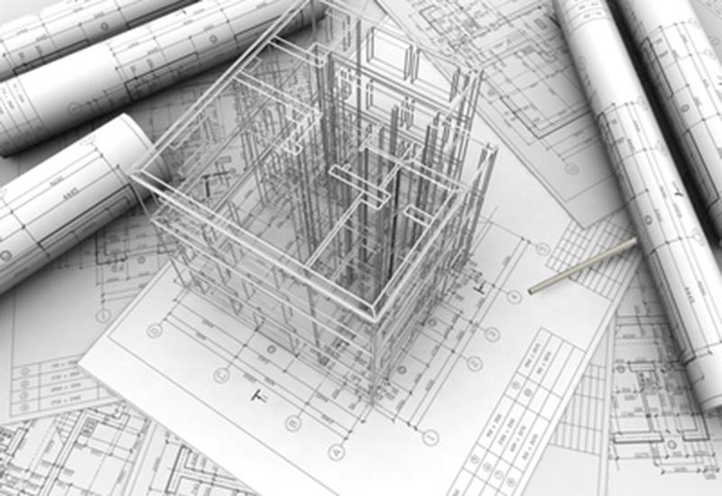 Pläne und schematische Darstellung eines Gebäudes